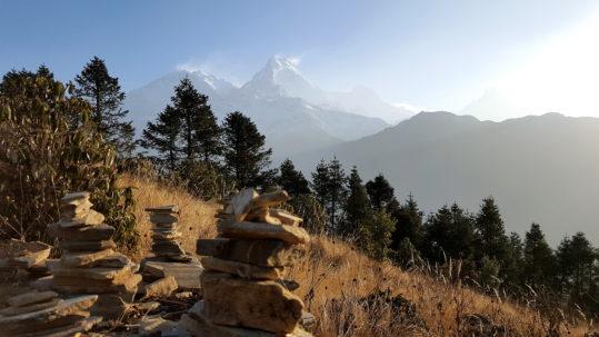 Vue sur les Annapurnas - Annapurnas (Nepal)