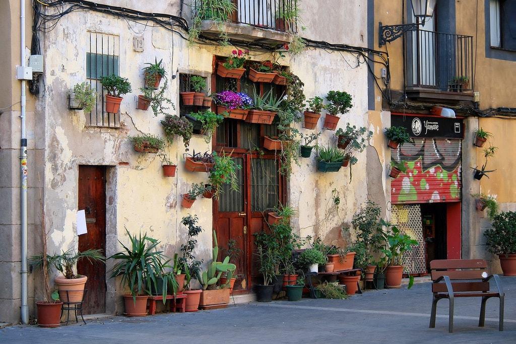 Rue insolite à Barcelone
