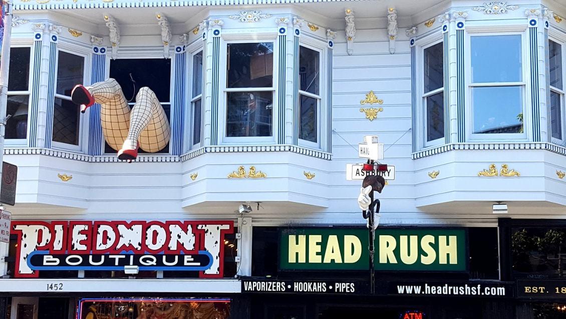 Devanture exotique dans le quartier Ashbury - 5 jours à San Francisco