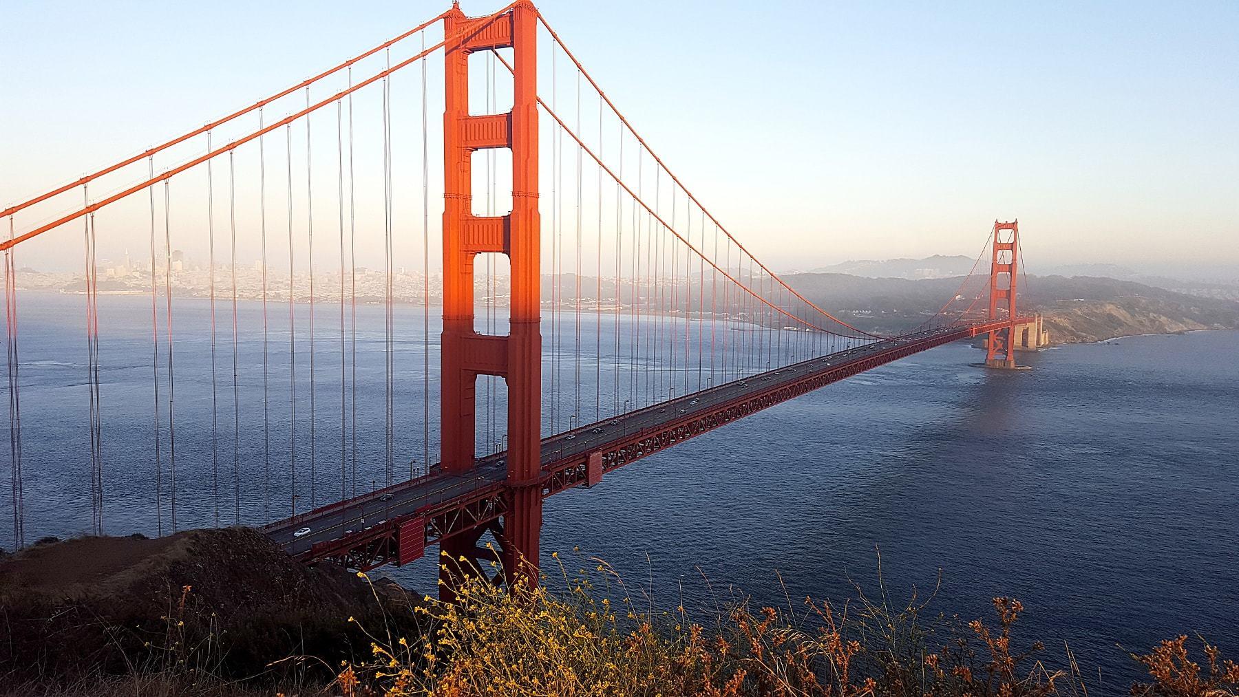 Golden Gate Bridge au coucher de soleil_5 jours à San Francisco