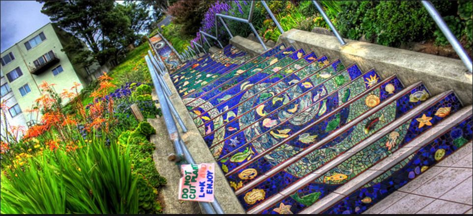 Mosaic steps insolite à San Francisco_Californie
