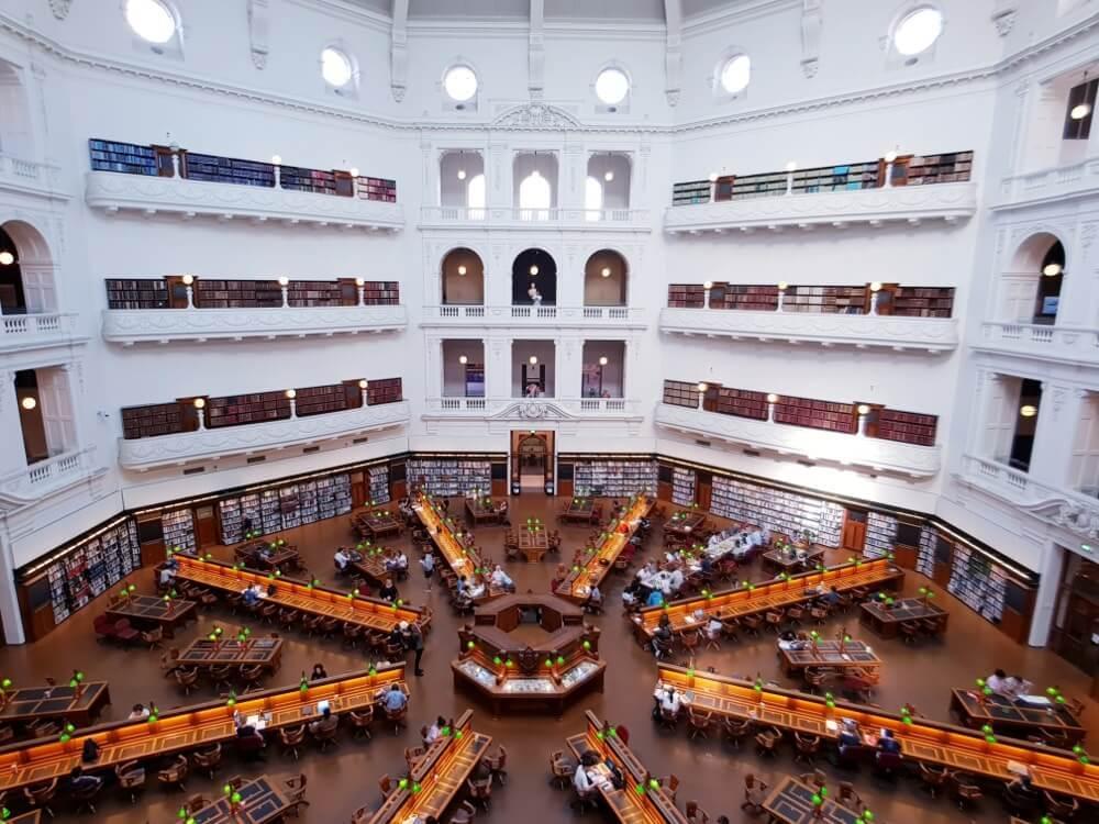 Visiter Melbourne : Victoria library
