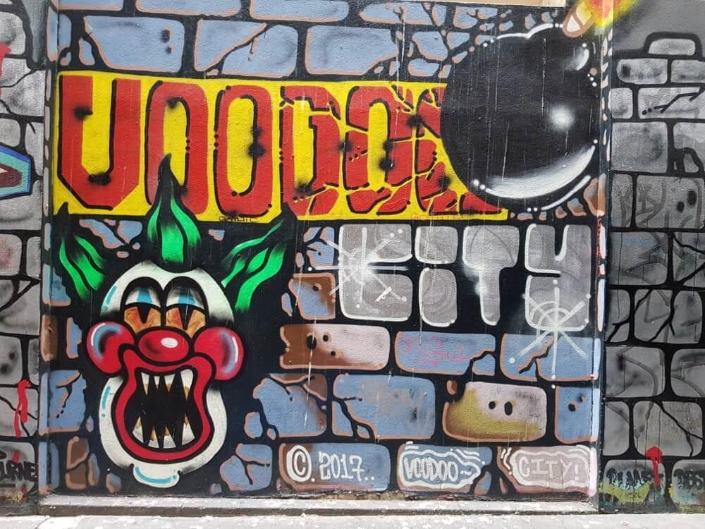 Visiter Melbourne : street_art_Flinder_court