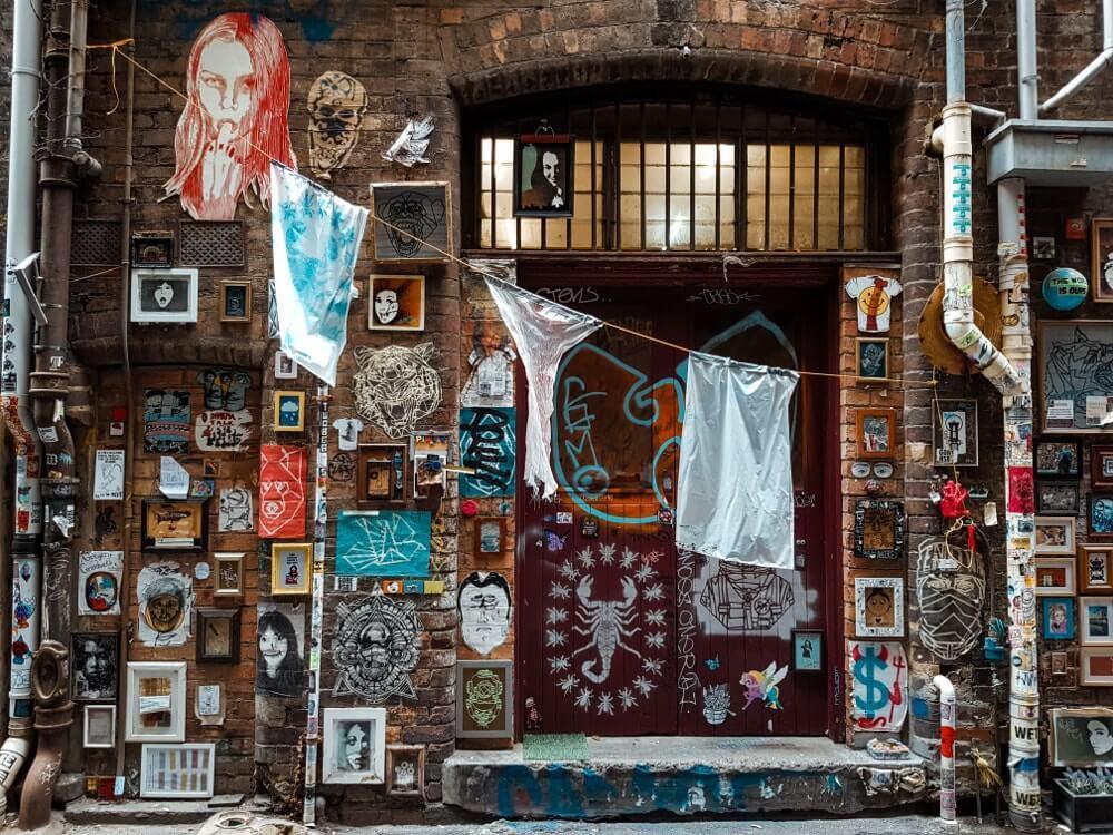 Visiter Melbourne : street_art_Presgrave_place_CBD