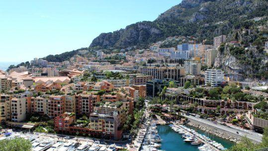 Monaco vue du palais princier