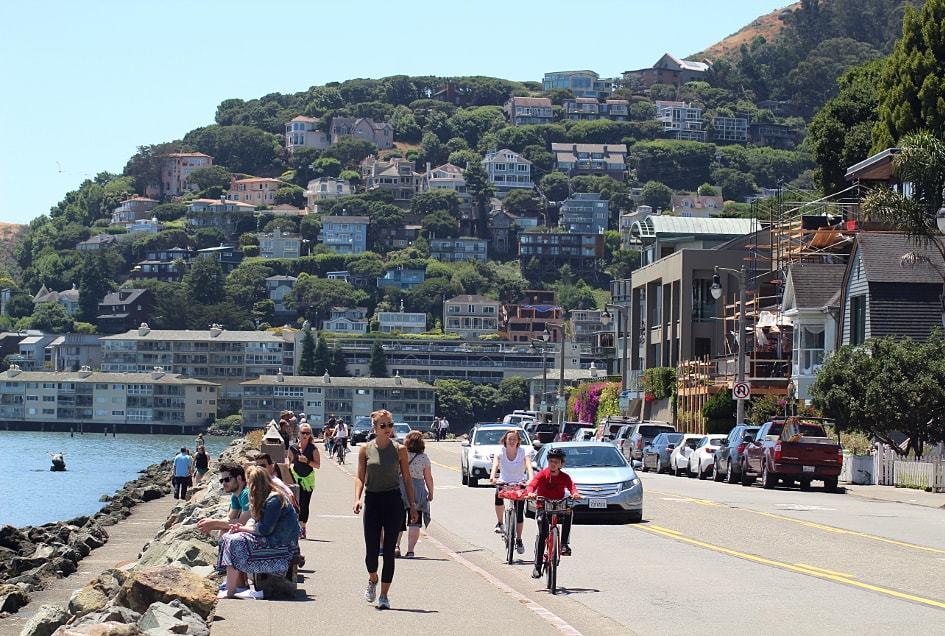 Balade sur le quai de Sausalito-San Francisco Californie