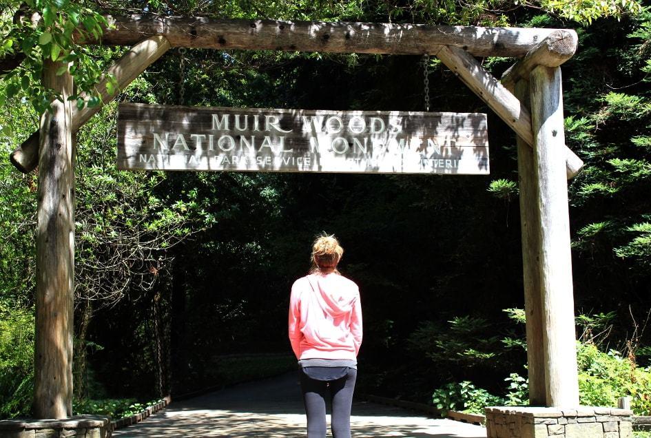 Entree du parc de Muir Woods à San Francisco_Californie