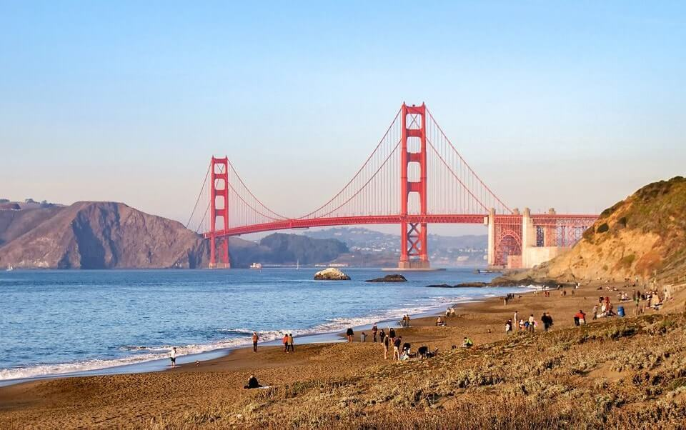 Baker beach - meilleurs points de vue pour observer le Golden Gate Bridge