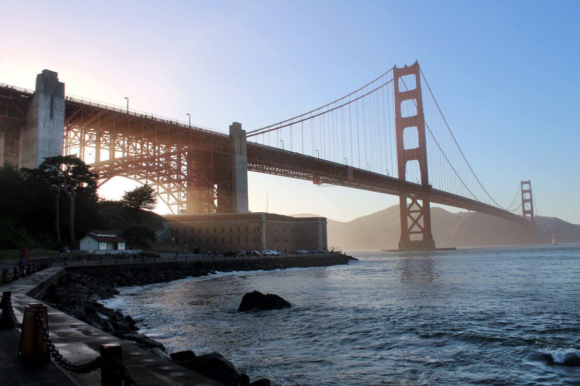 Fort point - meilleurs points de vues pour observer le Golden Gate Bridge - San Francisco