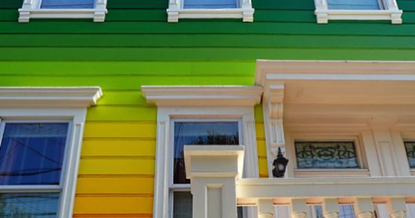 Rainbow house insolite à San Francisco_Californie