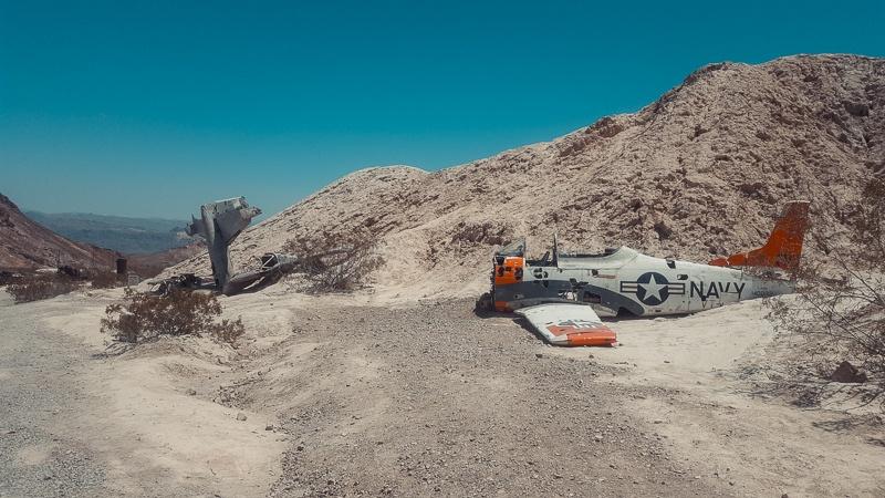 Canyons-autour-de-Las-Vegas-el-dorado-canyon-avion-ecrase