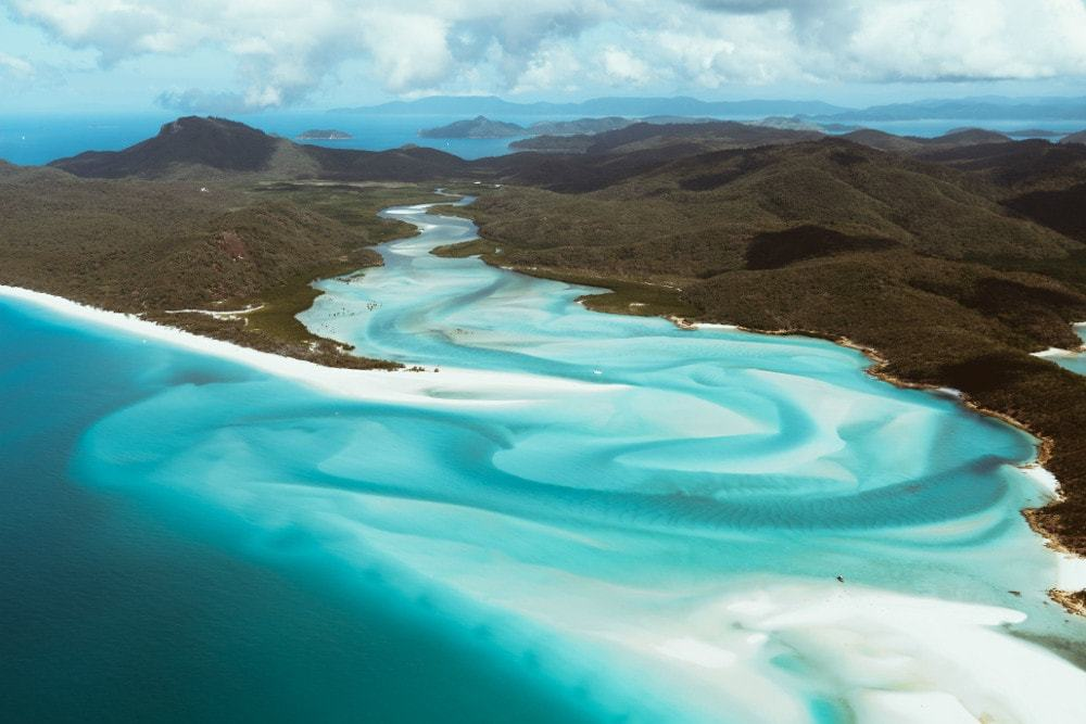Survoler les Whitsundays