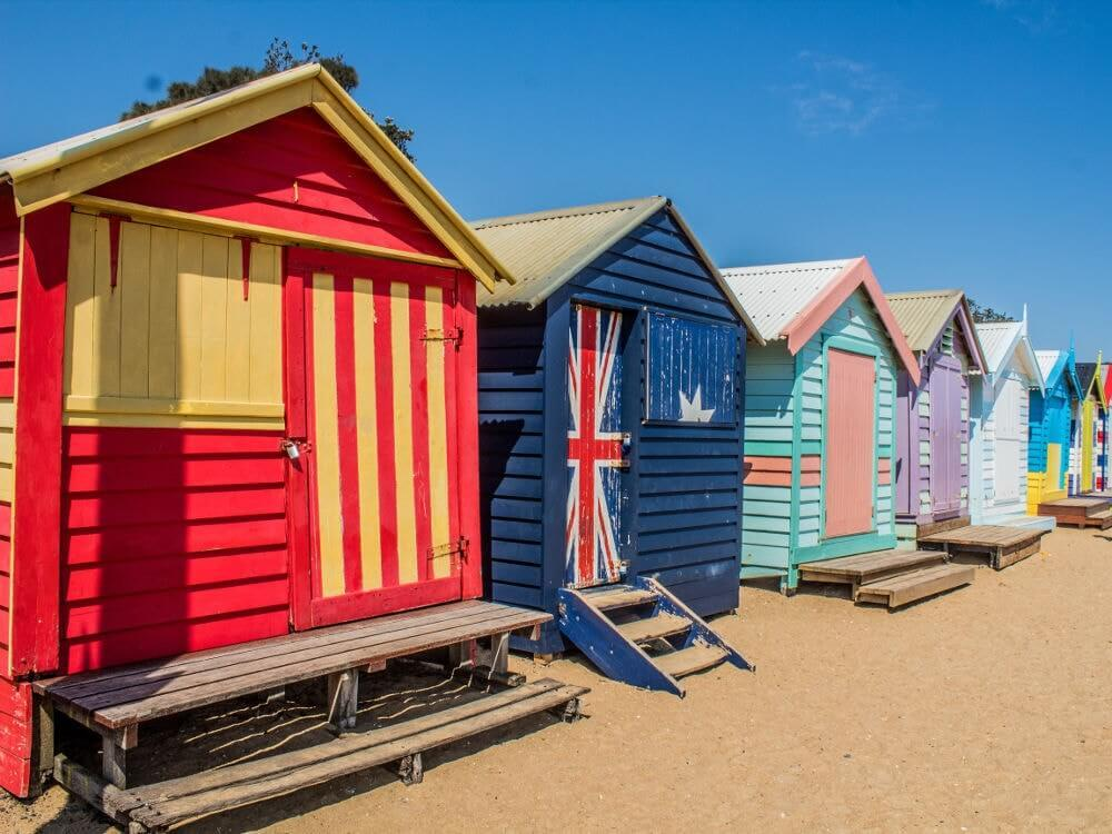 Visiter Melbourne : Brighton_beach_bathing_box