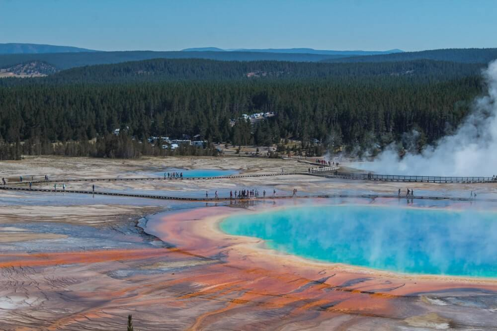 Bucket list USA parc de Yellowstone grand prismatic