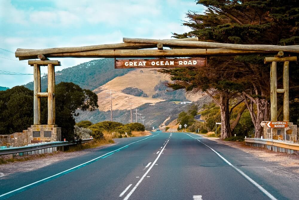 Road trip sur la Great Ocean Road : memorial arch