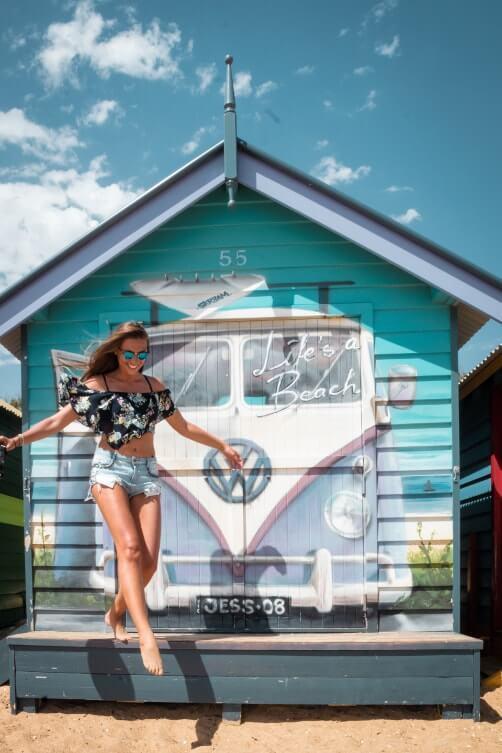 Spots photos de Melbourne : admirer les cabanes de la plage de Brighton