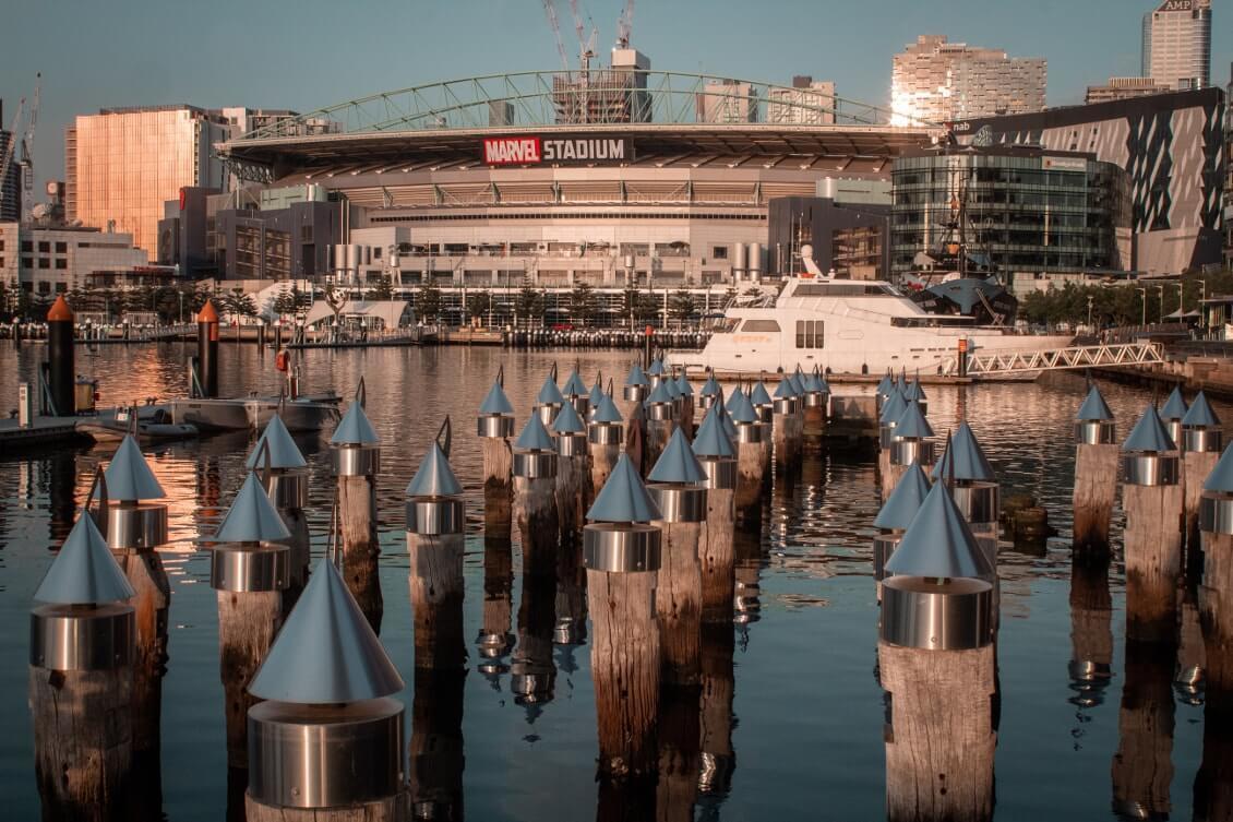 Spots photos de Melbourne : admirer un coucher de soleil sur les Docklands