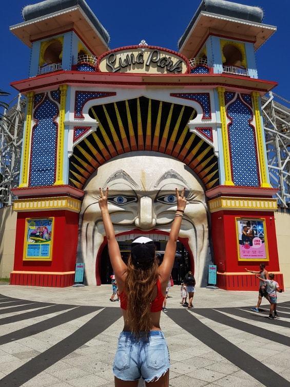 Spots photos Melbourne : l'entrée du Luna Park