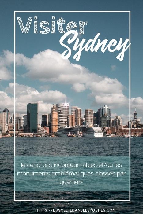 Visiter Sydney image Pinterest du soleil dans les poches blog voyage