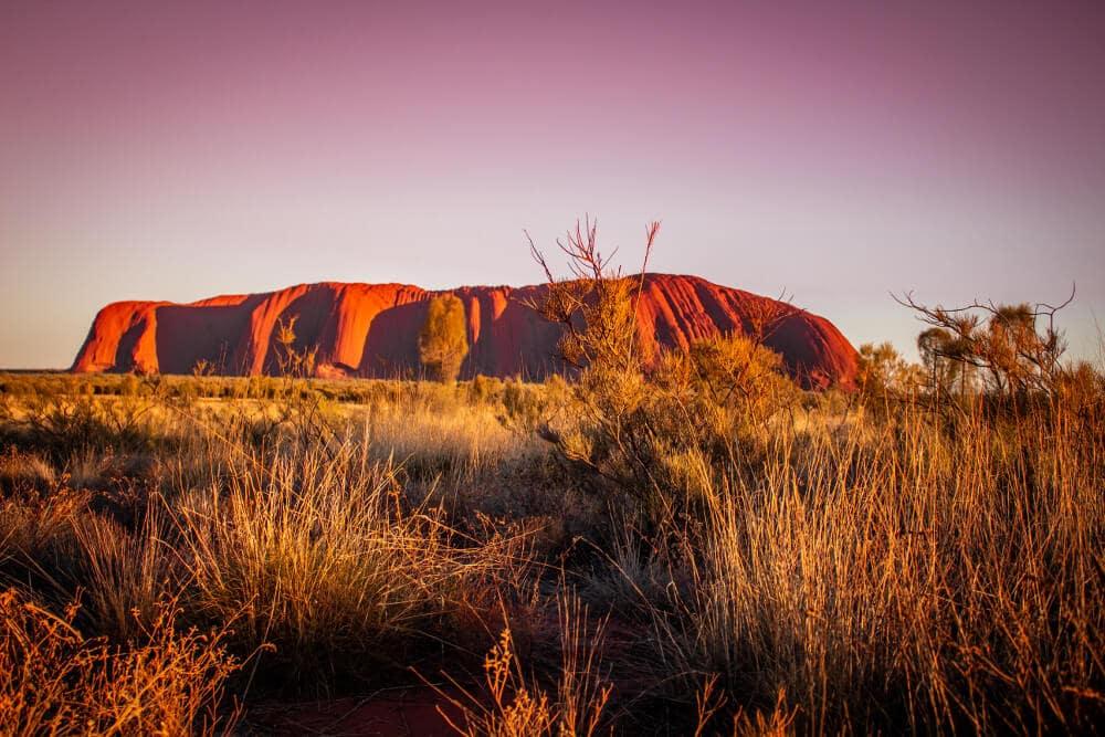 Uluru et ses couchers de soleil
