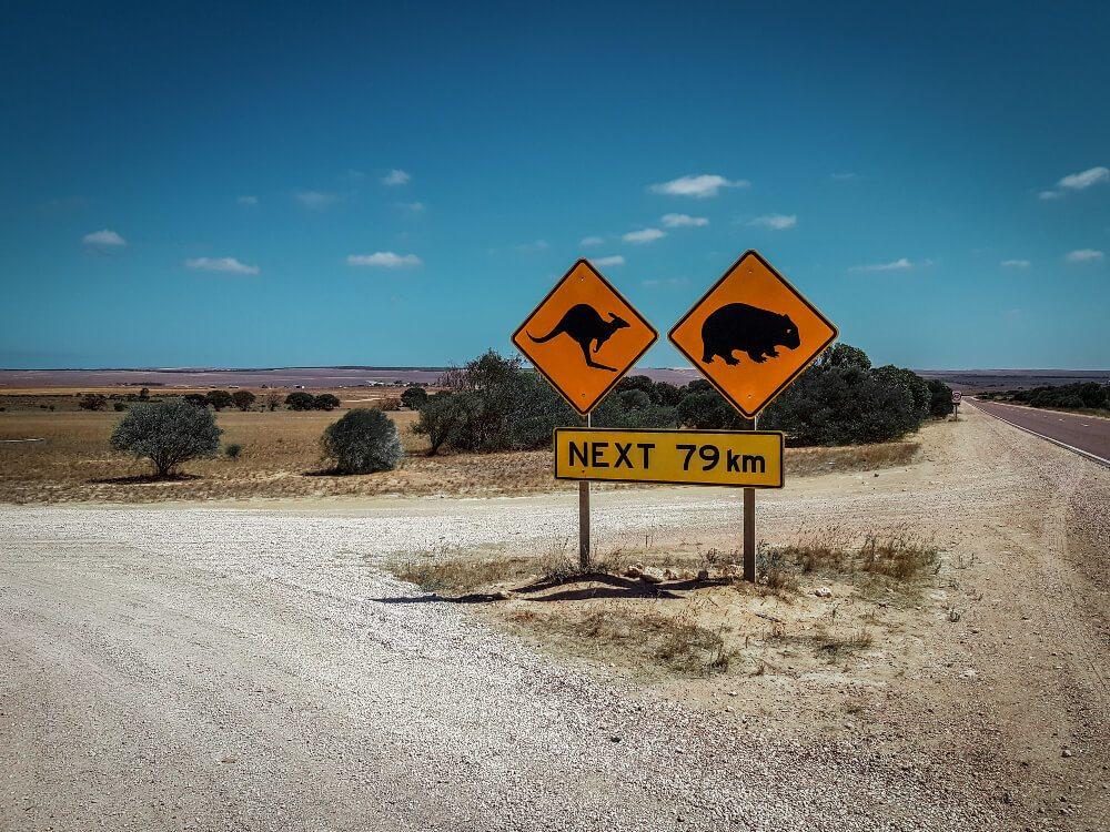 Panneaux d'Australie les panneaux de l'ouest