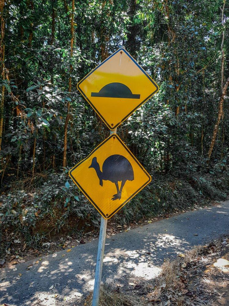 Panneaux d'Australie attention aux emus