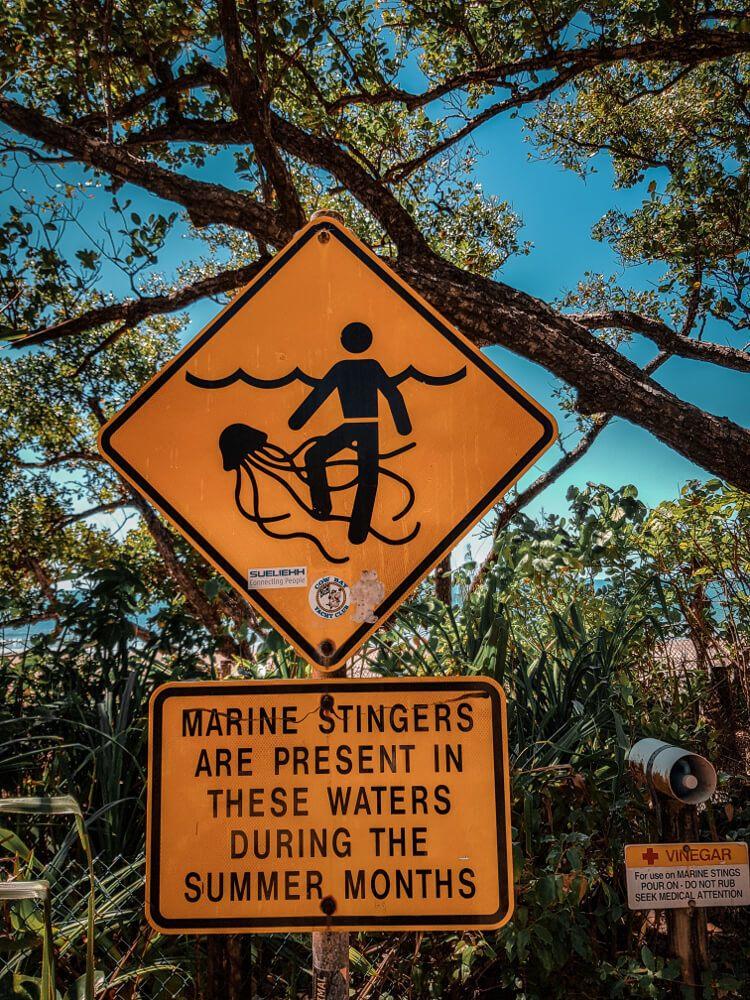 Panneaux d'Australie attention aux meduses