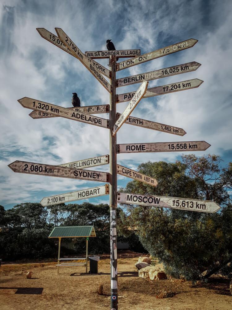 Panneaux d'Australie toutes les directions du monde